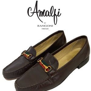 AMALFIE for RANGONI brown leather loafers
